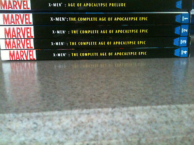 X-Men: The Complete Age of Apocalypse Epic TPB Lot.  Prelude + Book 1 2 3 4