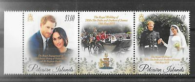 Pitcairn Islands 2018 Royal Wedding Harry & Meghan Xf Mnh
