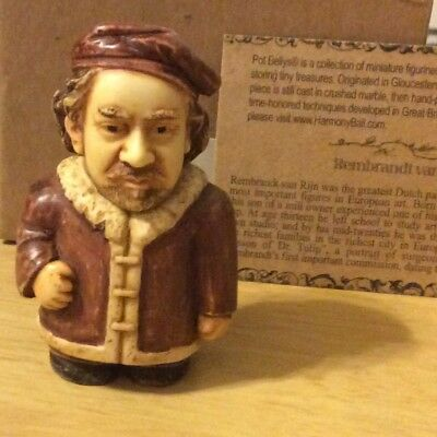 NIB Harmony Ball POT BELLY Rembrandt Historical Figurine Gift