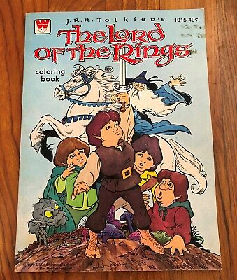 Vintage Whitman The Lord of the Rings Coloring Book-1979 Uncolored