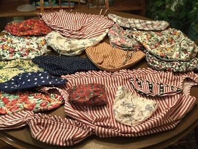 28 Longaberger Basket Liners And 8 Tie Ons