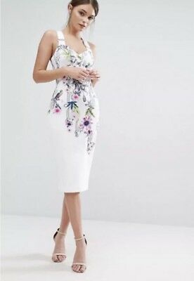 469c8298c00a Ted Baker London White Scarlin Passion Flower Bodycon Dress Tb 0 us 2  279