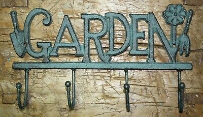 Cast Iron VICTORIAN Style GARDEN Towel Coat Hooks Hat Hook Key Rack Rustic