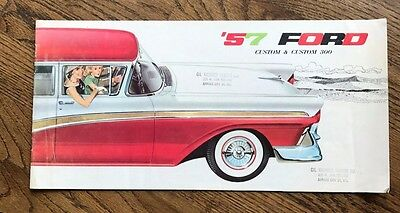 1957 Ford, Custom & Custom 300 Sales Brochure,Good Condition,Vintage Collectible