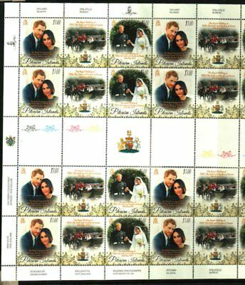Pitcairn Islands 2018 Prince Harry Wedding Full Sheet Mnh
