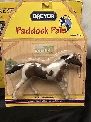 Breyer Paddock Pals Horse ~ Bay Tobiano Pinto No. 1615 ~ New in Pkg.!