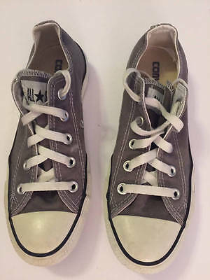 e8a2ac199a5c Converse All Star Charcoal Gray Canvas Chuck Taylor Lo Top Sneakers Sz 6  Womens
