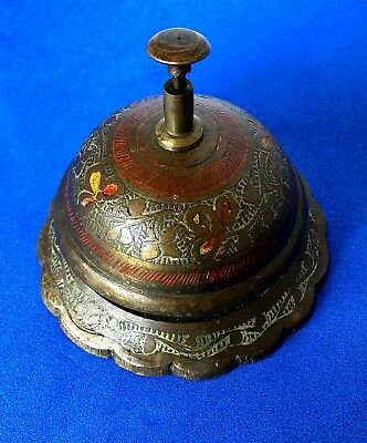Old Brass Antique Victorian Style Service Desk Office Bell Hotel Counter