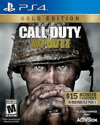 Call of Duty WW2 (PlayStation 4) BRAND NEW & FACTORY SEALED WWII World War 2 ps4