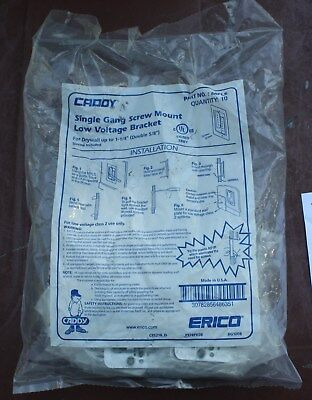 Erico Caddy MPLS Single-Gang Drywall Ring - Metal (10 Pack) New in Package