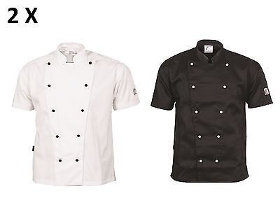 2 X Traditional Chef Jacket Short Sleeve DNC Work Wear 1101- FREE POST
