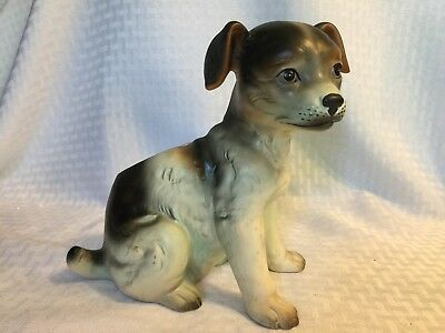 Vintage Porcelain Puppy Planter  Lefton Exclusives  Japan Numbered