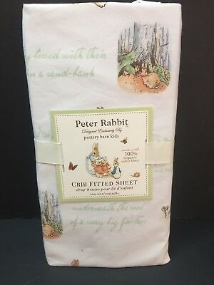 Pottery Barn Kids Crib Fitted SHEET Toddler PETER RABBIT Beatrix Potter Easter N