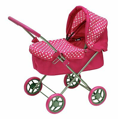 Chad Valley Babies to Love My First Doll's Foldable Pram - Pink