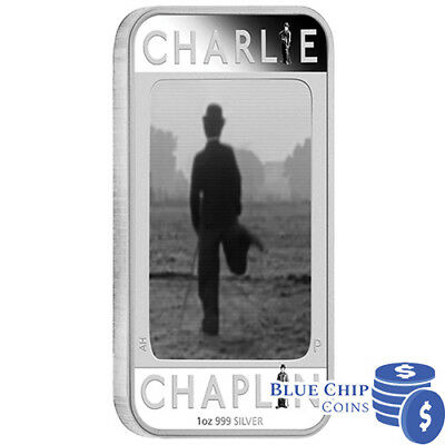 2014 Charlie Chaplin 100 Yrs of Laughter 1oz Silver Proof Lenticular Coin