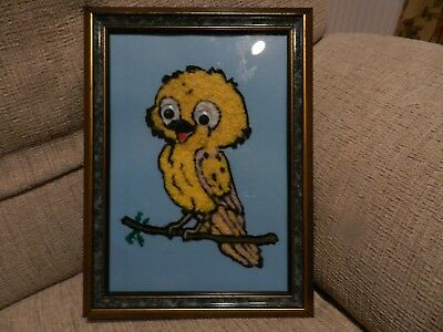 Tweety Pie: Original wool art picture environmentally friendly and unique
