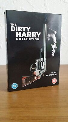 Dirty Harry Collection (DVD, 2002, 5-Disc Set, Box Set) SHIPPING FROM UK