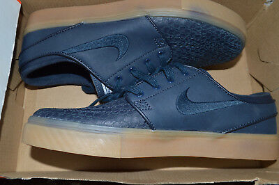 brand new 484eb 3b133 New Nike Zoom Stefan Janoski SB Skate Shoes 616490-441 sz 9.5 Dark Navy Blue