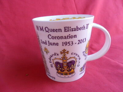 Dunoon Anniversy of Coronation 1953-2013 Large Commemorate Mug