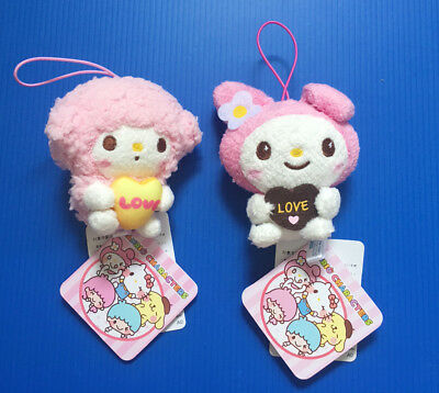 BNWT Sanrio Sega Japan 8cm Piano & 9cm Pink My Melody plush soft toy doll