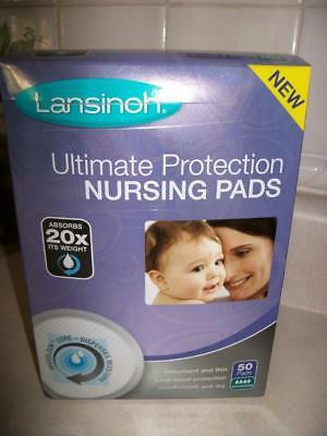 3 Lansinoh Ultimate Protection Nursing Pads 50 Pads Each Max Absorption (150)
