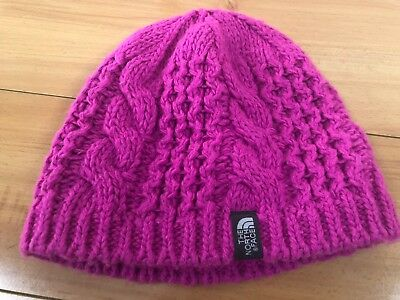 c72f96faa33bf7 THE NORTH FACE Girls Youth Cable Minna Knit Beanie Pink Small ...