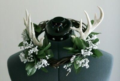 Horned White Flower Crown | Costume | Cosplay | Photoshoots