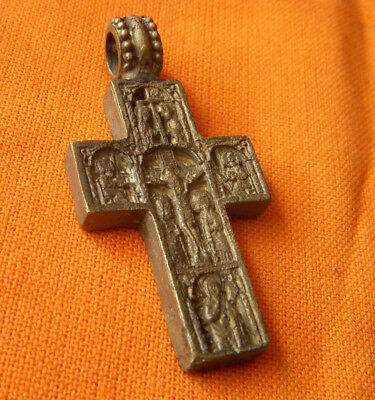 A17. Post Medieval bronze double faced cross.