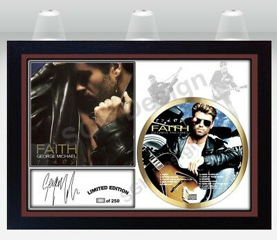 George Michael PHOTO & Faith CD Disc SIGNED Presentation Display Framed #1