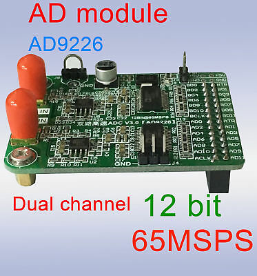 Dual channel High Speed AD Module AD9226 Parallel 12-Bit AD 65M Data Acquisition