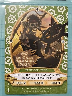 Disney Sorcerers SOTMK Pirate Helmsman's Bombard NOT-So-Scary Party Card 05/P