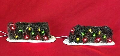 Lighted Holiday Hedge Dept 56 Village Accessories 53615 Christmas snow city Z