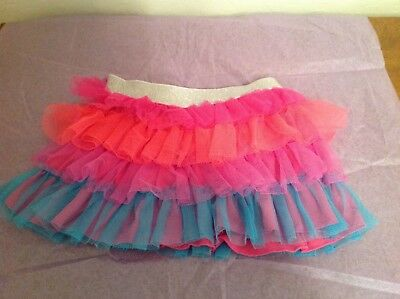 Danskin Freestyle Girls Multicolored Tulle Tutu Skirt. Size XS 4/5. Excellent.