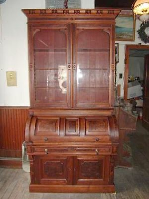 The BEST Victorian Walnut Cylinder Roll Desk/Secretary