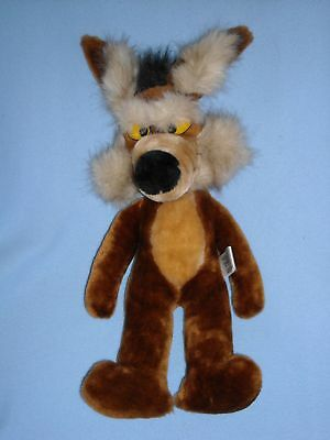 """Large 1992 Mighty Star  18"""" Wile E Coyote Looney Tunes Warner Bros Plush"""