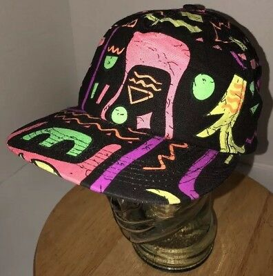 b0745461945ad8 Vintage HIP-HOP African Neon 80s 90s Fresh Prince Jazzy Jeff Hat Cap  Snapback