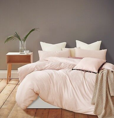 NEW Gioia Casa Jersey 100% Cotton Quilt Cover Set Single/Double/Queen/King Bed