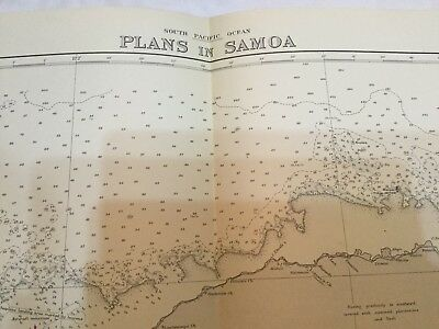 Genuine 60s Nautical Chart South Pacific Plans in Samoa