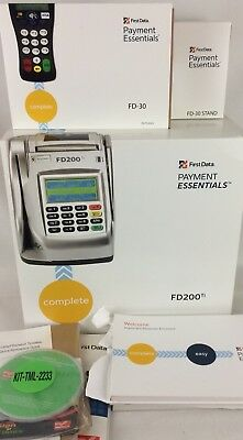 FD200Ti & FD30 W/ Stand First Data Payment Essentials Credit Card Terminal Check
