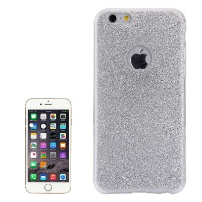 COVER Custodia Glitter Morbida TRASPARENTE per Apple iPhone 6 6S PLUS Argento