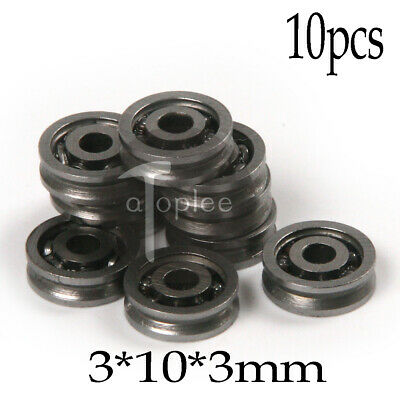 10pcs Miniature Deep U Groove Pulley Wheels Roller 603VV Ball Bearings 3x10x3mm