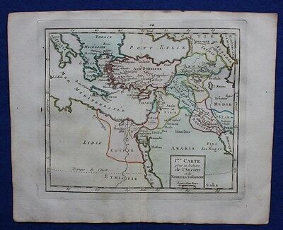 Original antique map MIDDLE EAST, MEDITERRANEAN, Brion de la Tour, 1774