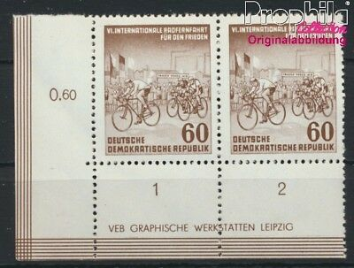 DDR 357Y II DV publication info selttenes watermark MNH 1953 Cycling (8927940