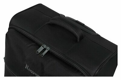 IT Luggage The LITE Medium 4 Wheel Suitcase - Black.