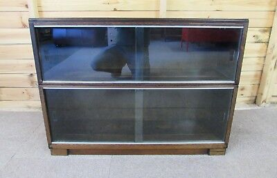 Vintage 1960's Minty of Oxford 2 Tiered Sectional Bookcase (Delivery Available)