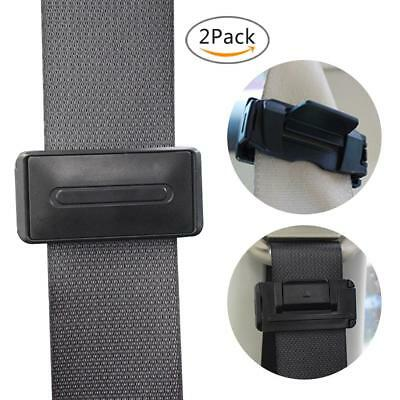2Pcs Car Seat Belt Safety Adjuster Clips Clamp Stopper Buckle Improves Comfort