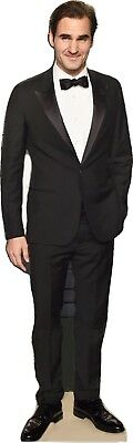 """ROGER FEDERER- IN TUX- 73"""" Tall-CARDBOARD CUTOUT Standee"""