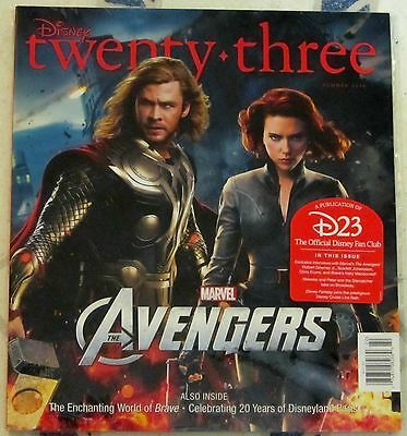 DISNEY Twenty-Three 23 SUMMER 2012 Marvel AVENGERS Thor & Black Widow COVER NIP