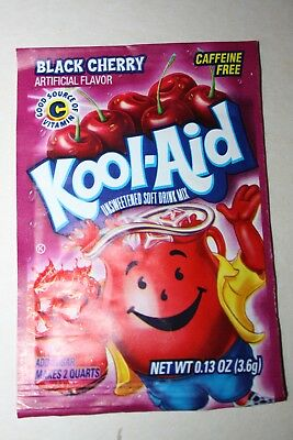 5 x US Kool-Aid Unsweetened Soft Drink Mix BLACK CHERRY Flavor