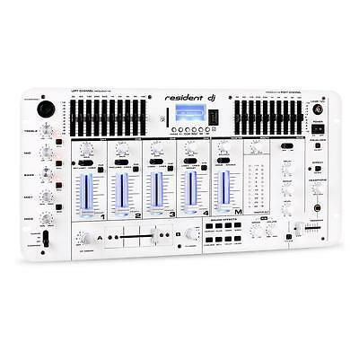 "Profi Bluetooth Mixer Dj Usb Sd Mischpult Party Sound 19"" Rack Mischer Weiß Neu"